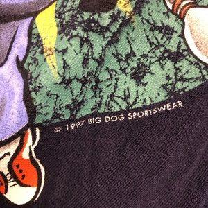 Vintage Shirts - Vintage Big Dogs Bowling Tee 1997